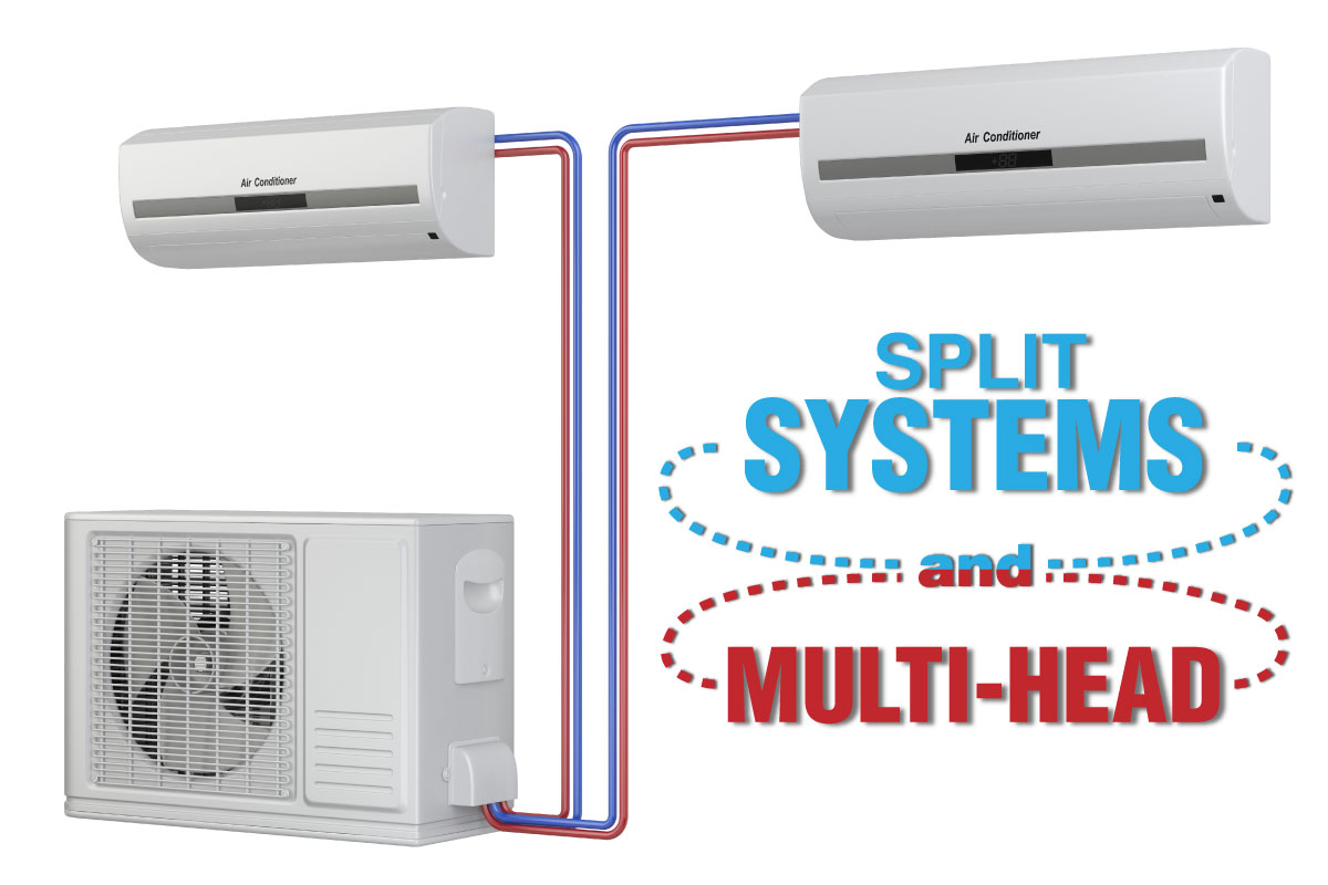 Split systems are designed for only one room. However multi head  #1586B6